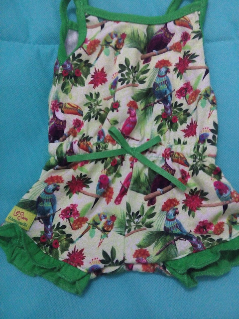 American Girl Girl of the Year 2016 Lea Clark Green Tropical Parrot Romper